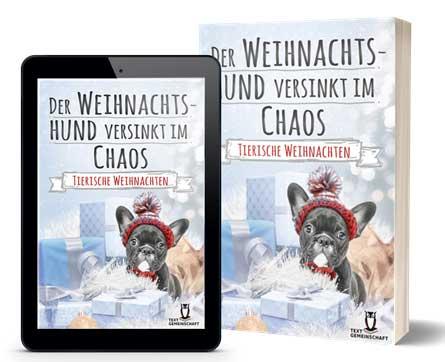 """Buchcover """"Der Weihnachtshund versinkt im Chaos"""""""